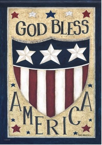 God Bless America Dura Soft House Flag