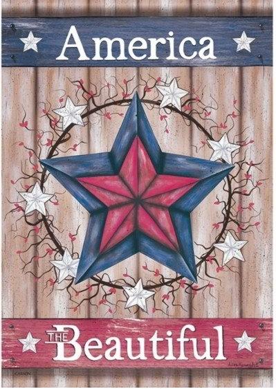 Beautiful Barn Star Dura Soft House Flag