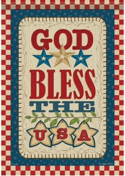 God Bless The USA Dura Soft House Flag