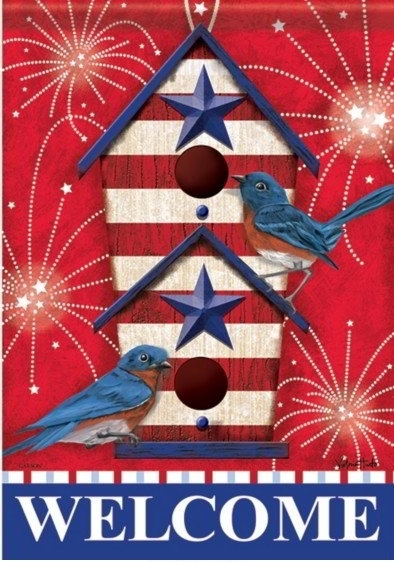 Bluebird Fireworks Dura Soft House Flag