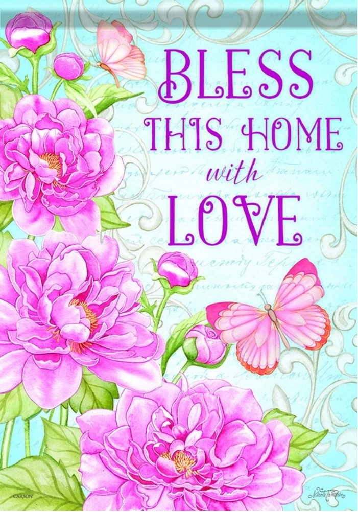 Bless This Home With Love Garden Flag