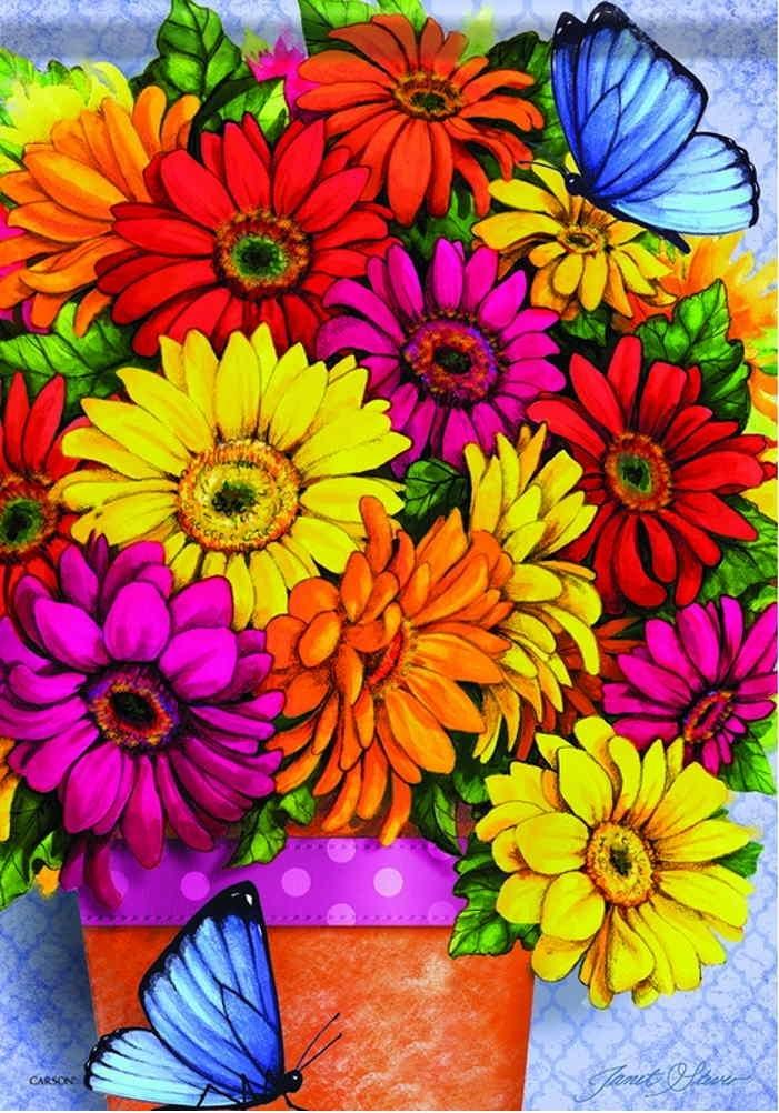 Bright Delight Daisies Garden Flag