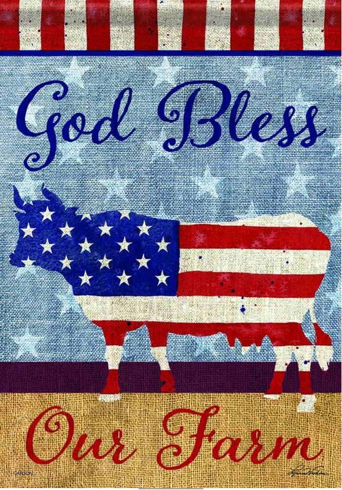 God Bless Our Farm Garden Flag