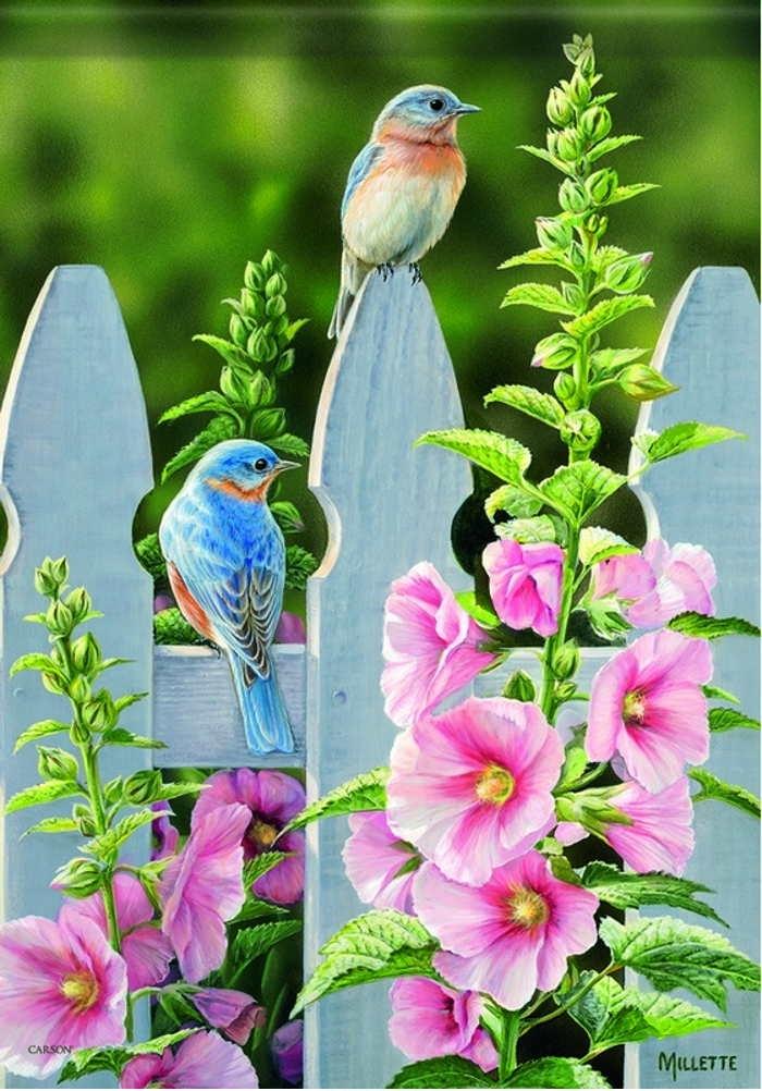 Bluebird Bliss House Flag