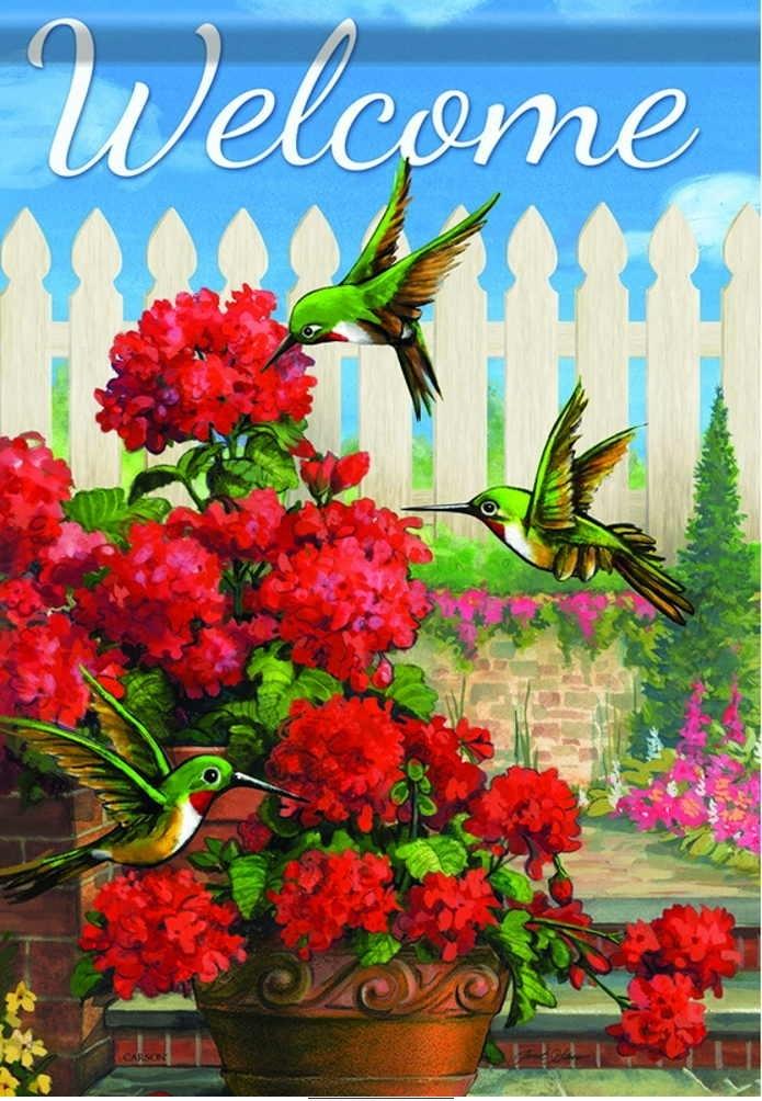 Hummingbird Haven House Flag