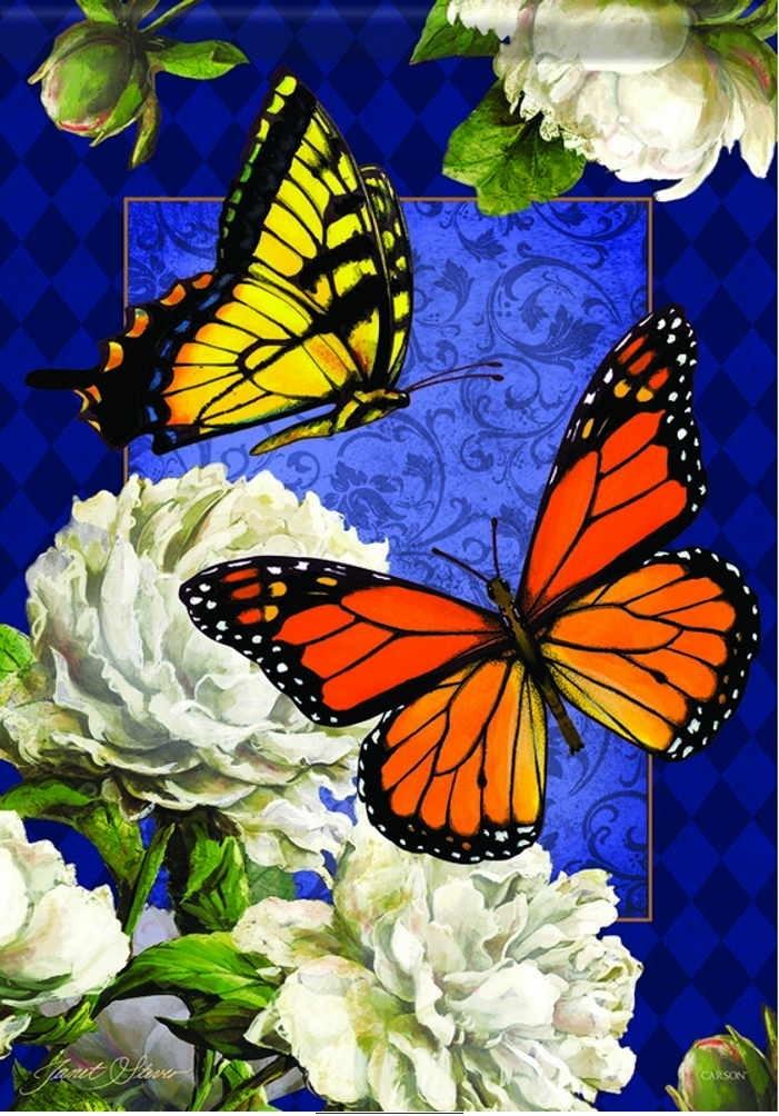 Classic Butterflies House Flag