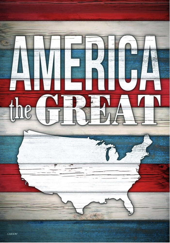 America The Great House Flag