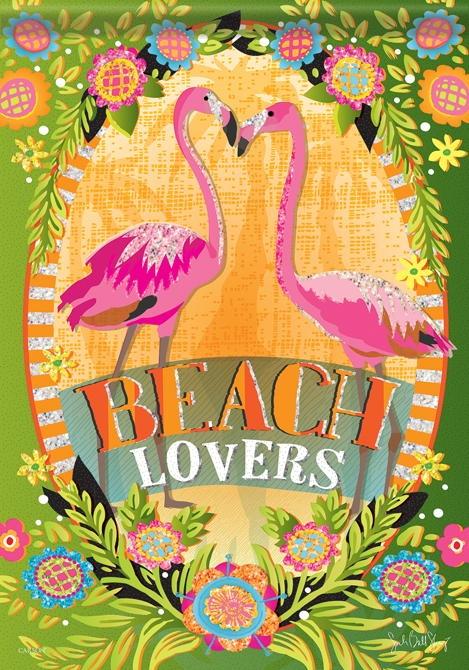 Beach Lovers House Flag