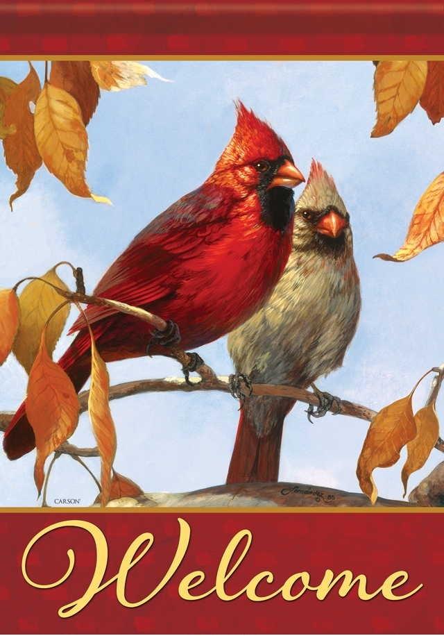 Birds Of Fall House Flag