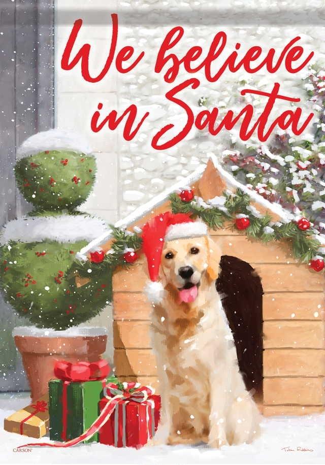 Christmas Puppy House Flag
