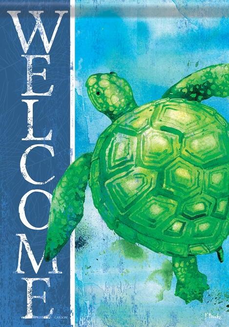 Green Turtle House Flag