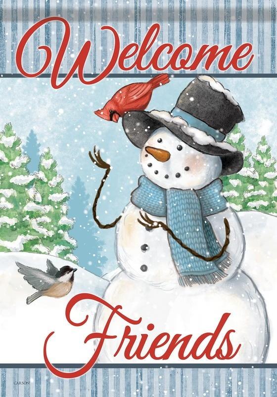 Snowman & Friends House Flag
