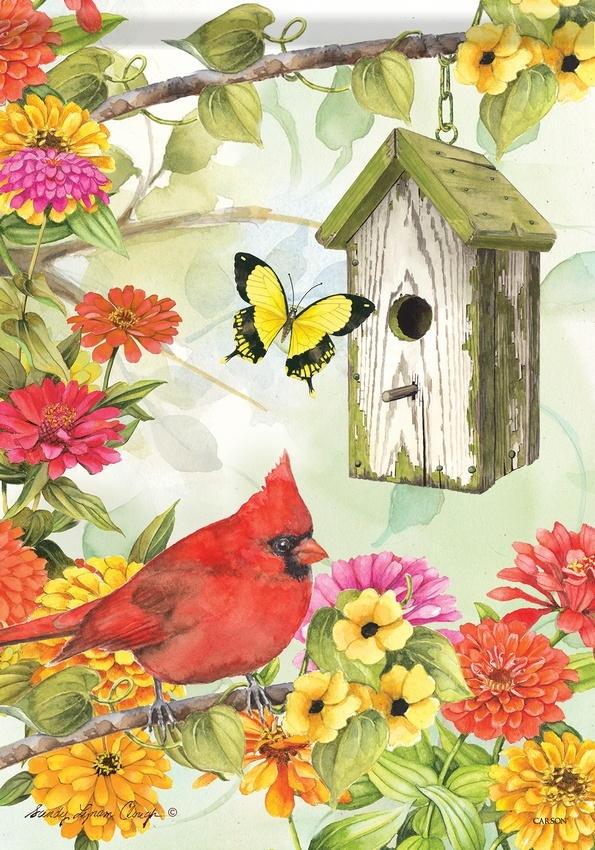 Cardinal Birdsong House Flag