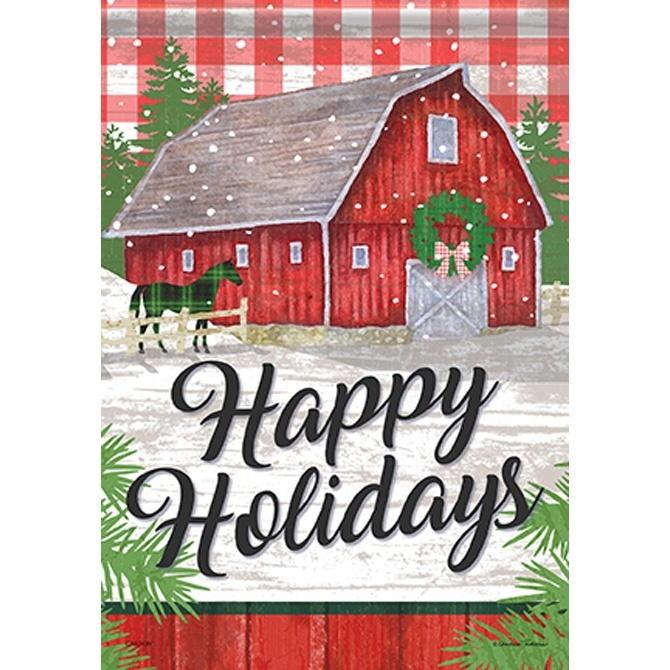 Farm Holiday House Flag