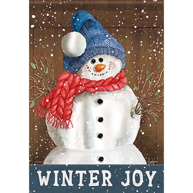 Joy Of Winter House Flag