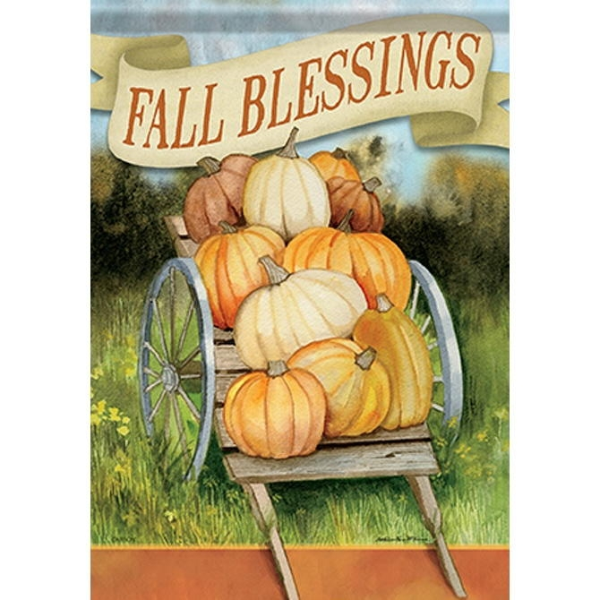 Fall Blessings House Flag