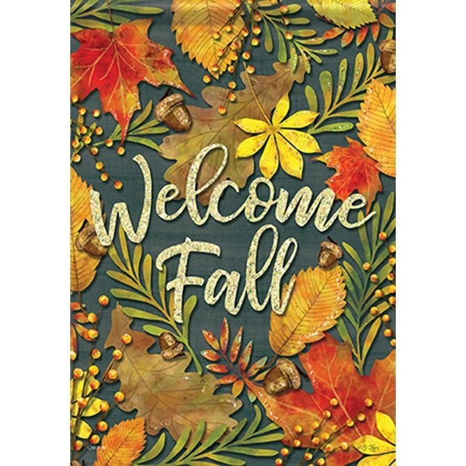 Fall Leaves Dura Soft House Flag