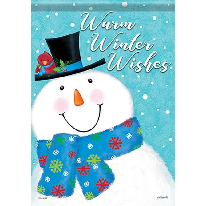 Warm Winter Wishes House Flag