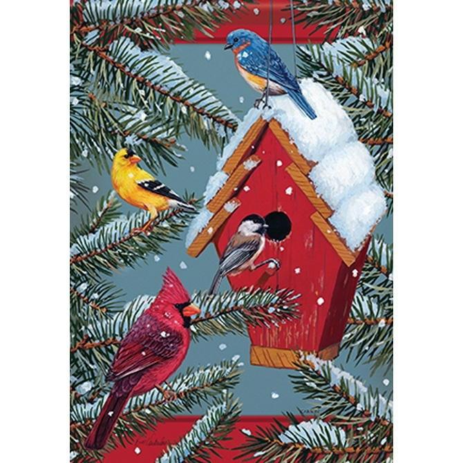 Seasonal Songbirds House Flag
