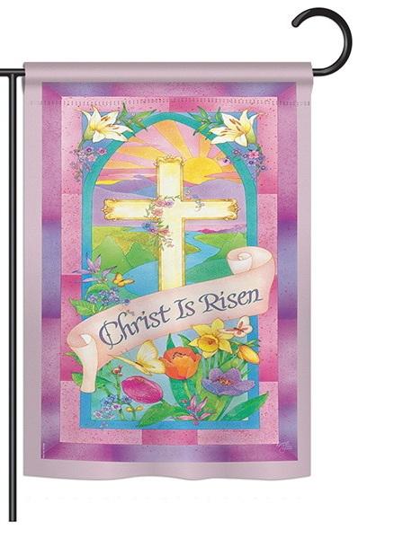 Christ is Risen Garden Flag