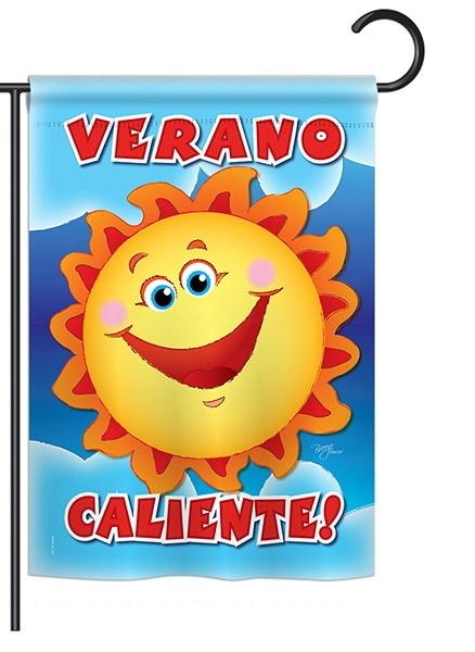 Verano Caliente Garden Flag