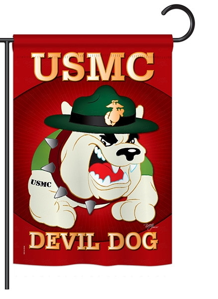 Devil Dog Garden Flag