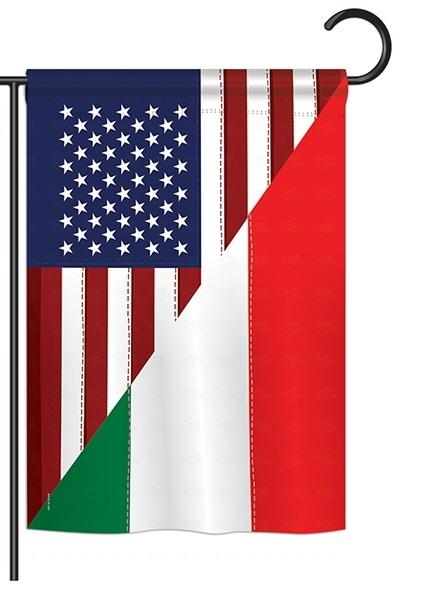 US Italian Friendship Garden Flag