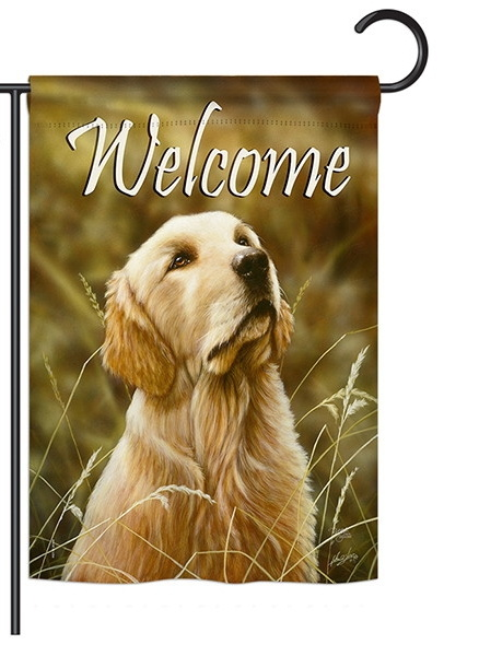 Yellow Lab Garden Flag