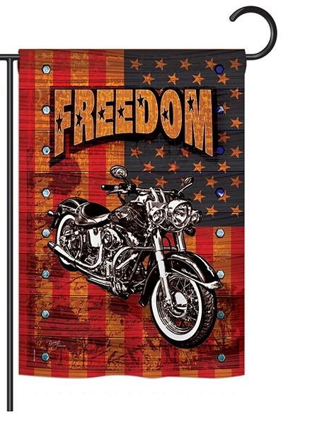 Americana Motorcycle Banner Garden Flag
