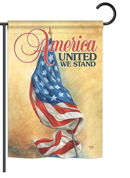America United Garden Flag