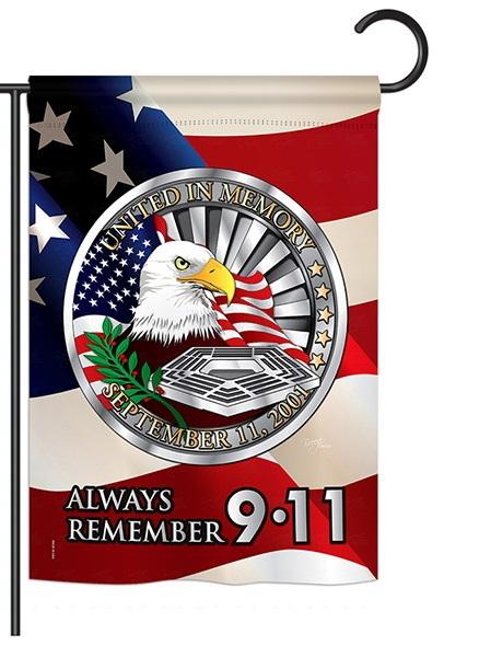 Always Remember 9-11 Garden Flag