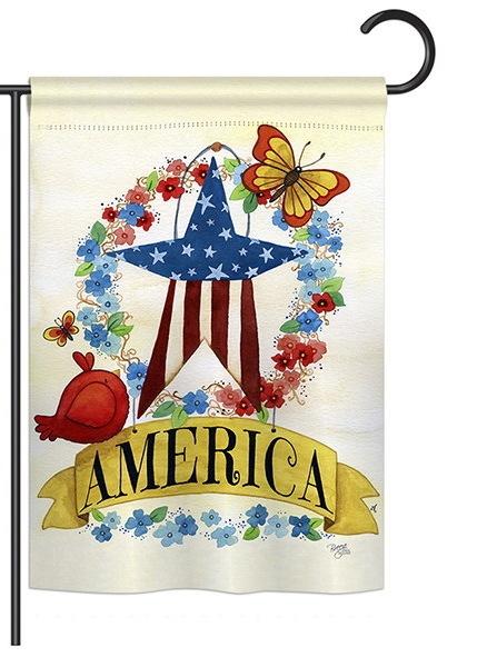 America Banner Star Garden Flag