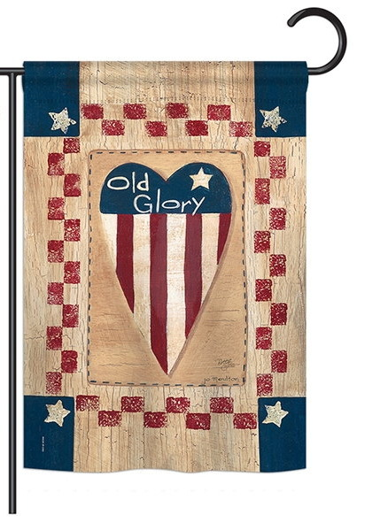 Old Glory Heart Garden Flag