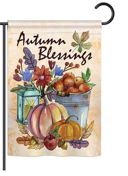 Autumn Blessings Garden Flag