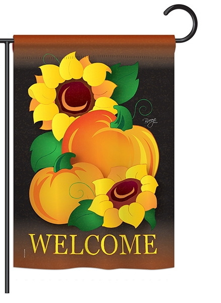 Welcome Pumpkin Garden Flag