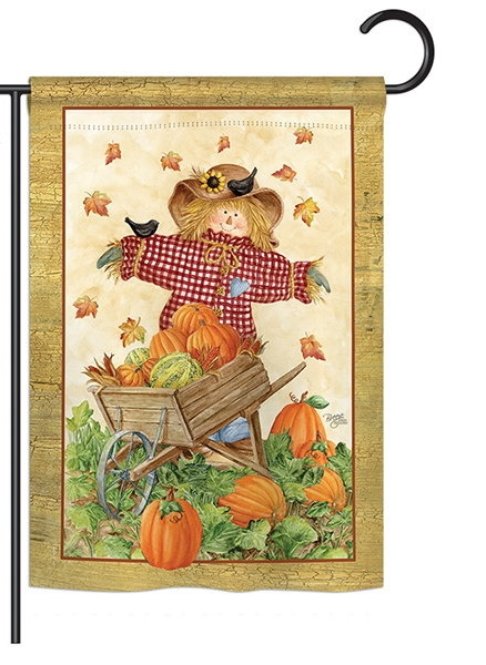 Scarecrow Garden Flag