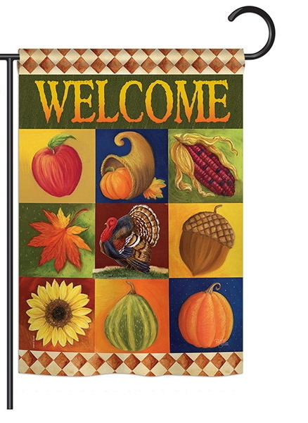Autumn Collage Garden Flag
