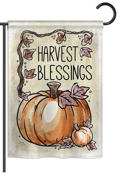 Harvest Blessings Garden Flag
