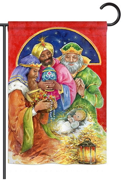 Three Kings Gifts Garden Flag