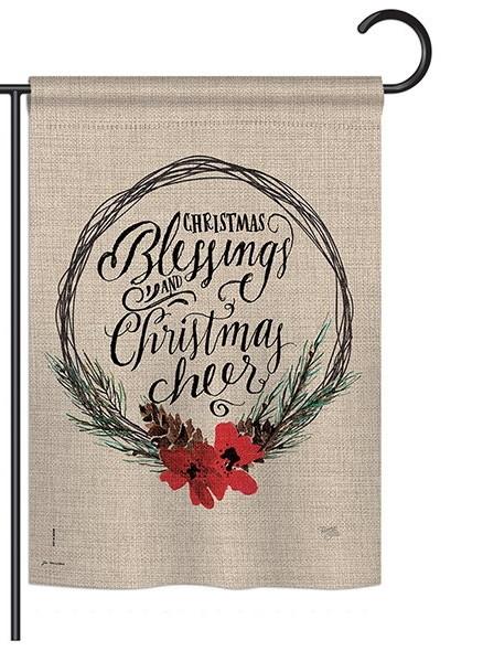 Christmas Blessings Garden Flag