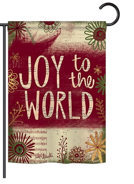 Joy to the World Decorative Garden Flag