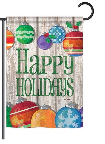 Colorful Ornament Holidays Garden Flag