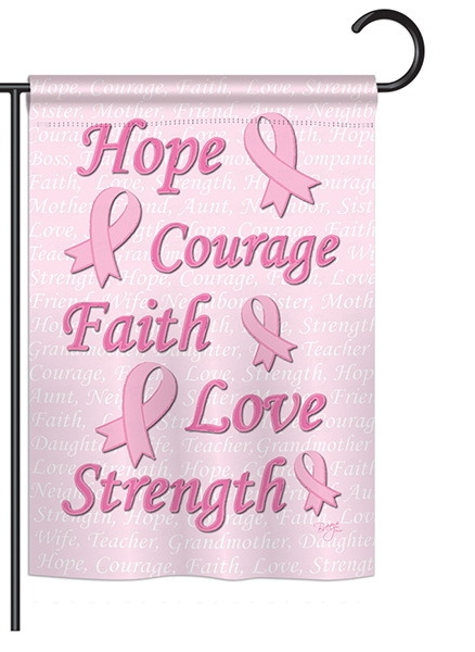 Hope, Faith, Courage Garden Flag