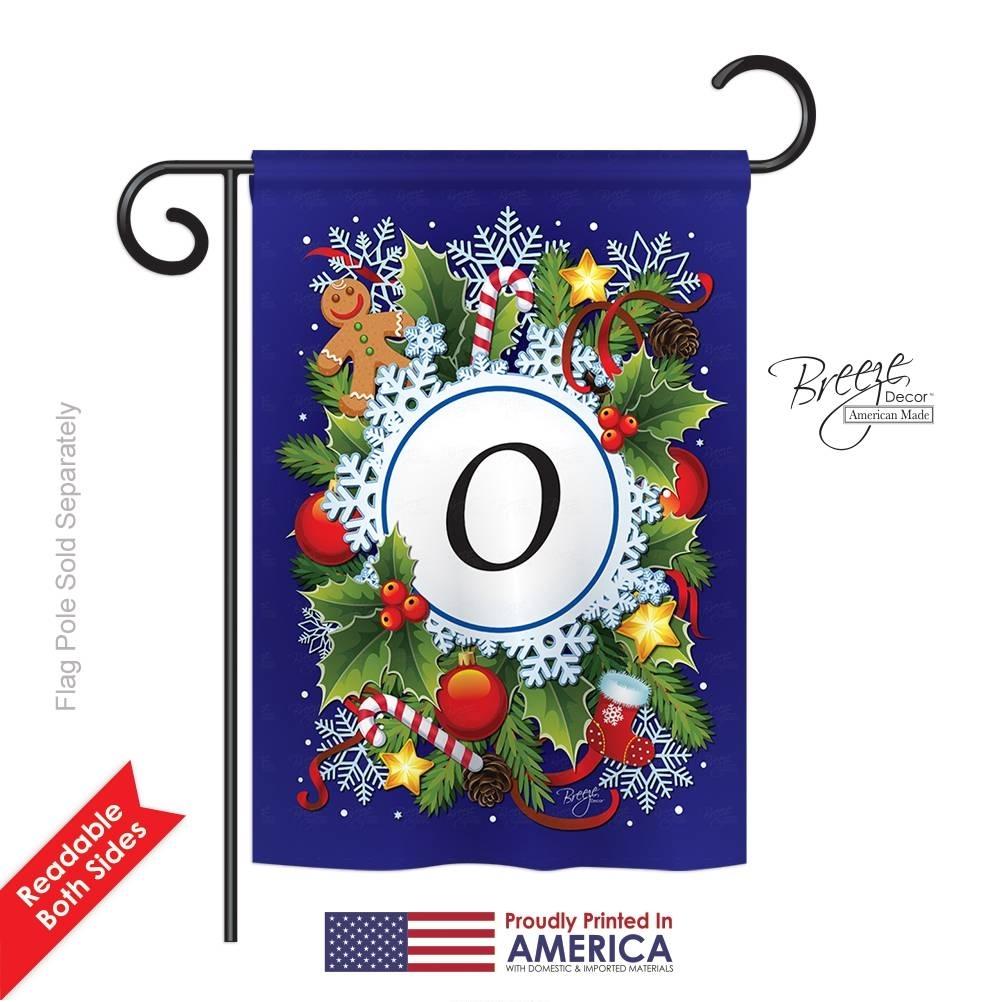 Winter O Monogram Garden Flag