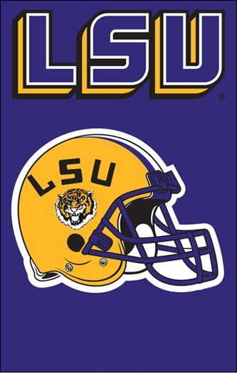 "LSU Tigers Applique Banner Flag 44"" x 28"""