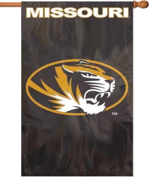 "Missouri Tigers Applique Banner Flag 44"" x 28"""