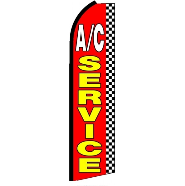 AC Service Feather Flag 2.5' x 11'