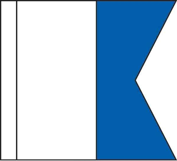 High Wind, US made Code Flag Set of Size No. 7