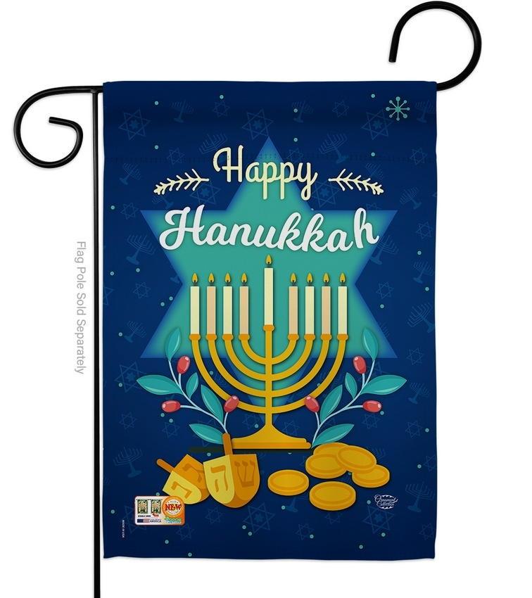 Happy Hanukkah Decorative Garden Flag