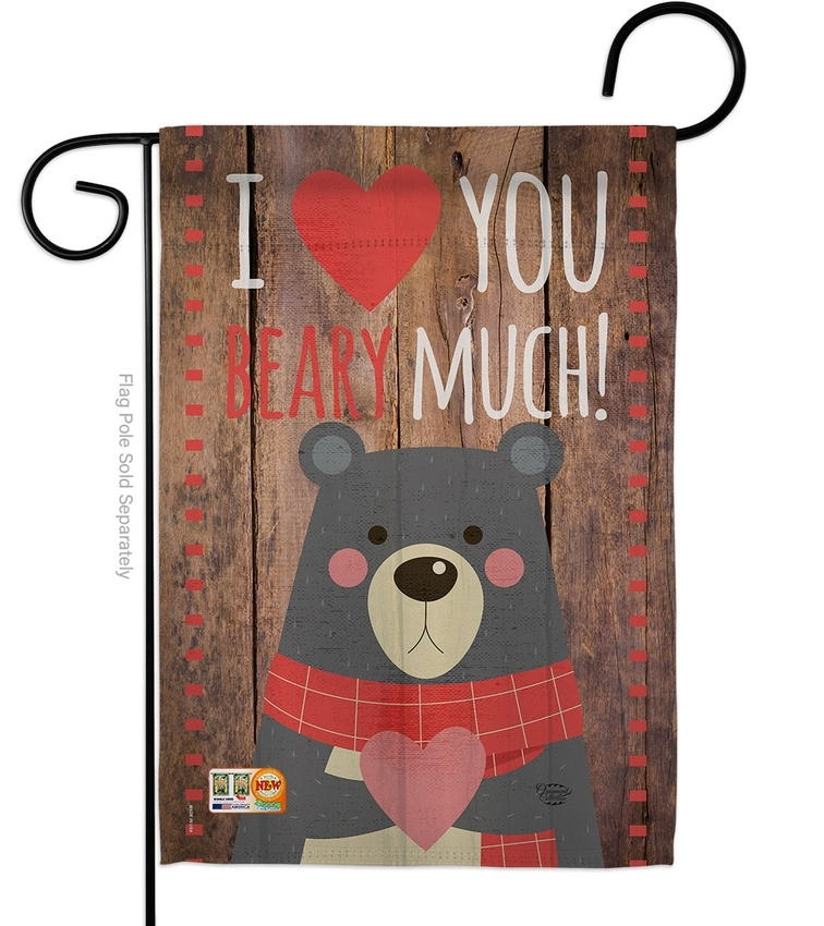 I Love You Beary Much Garden Flag
